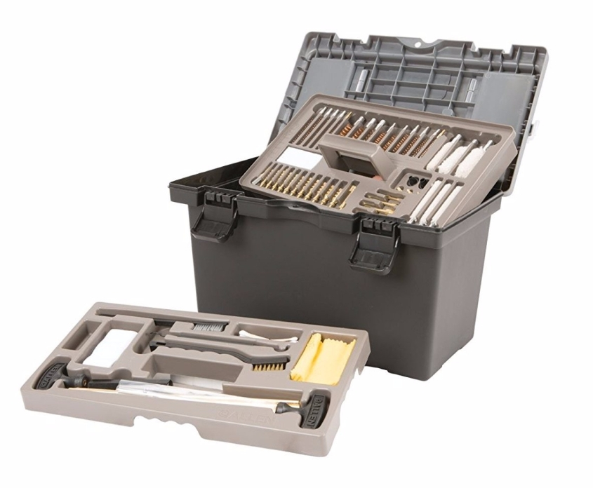 Image of an open Allen Ultimate Gun Cleaning Kit. This is item number five in the list of 10 Best Unique Survival Gifts for Preppers