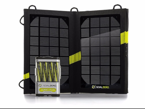 Image of the Goal Zero 10 plus solar charging system. This is number three in the list of 10 best unique survival gifts for preppers.