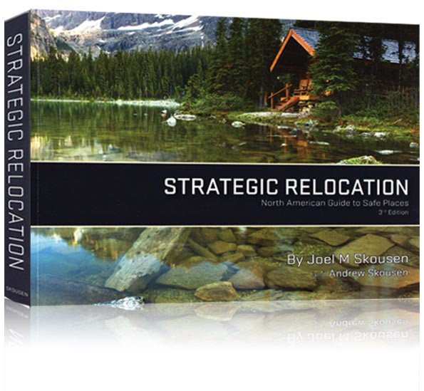 Image of a 3D front cover of the Strategic Relocation book, number 2 on the lost of Top 10 Unique Survival Gifts for Preppers.